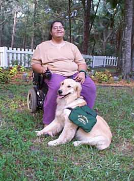 Service Golden Retriever Midas and Mom,