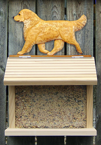 Golden Retriever Bird Feeder